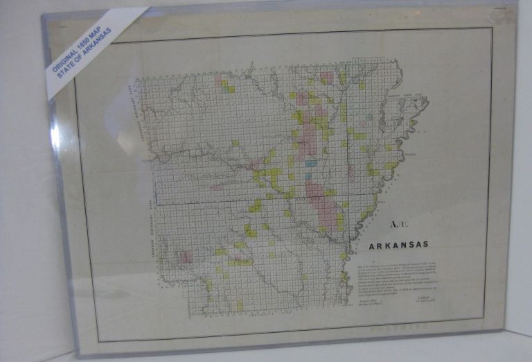 [MAP] ARKANSAS. Map Of The Arkansas Surveying District, Shewing The Extent Of Public Surveys In Said District On The 30th October 1850. L. Giibson, Sur. Gen. of Ark.