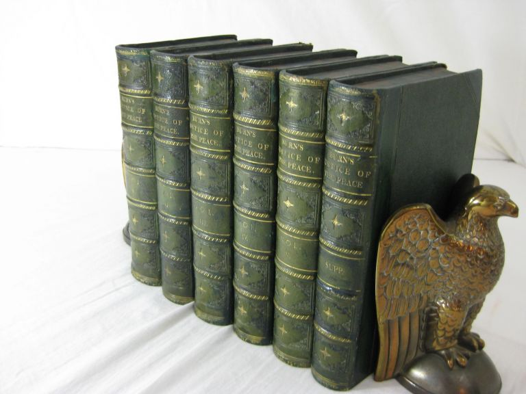 THE JUSTICE OF THE PEACE, AND PARISH OFFICER. ( 6 volumes, including the supplement, complete). Richard Burn.