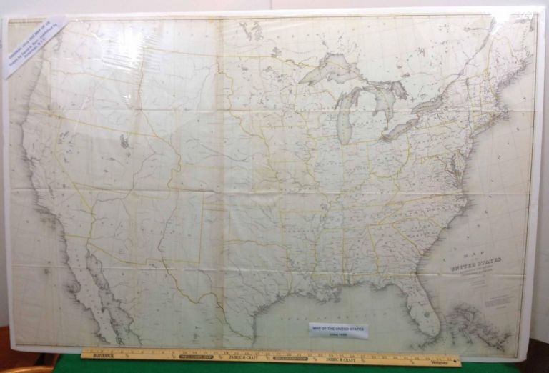 MAP OF THE UNITED STATES EXHIBITING THE SEVERAL COLLECTION DISTRICTS. SENATE EX. DOC. NO.77. MAP, David H. Burr.