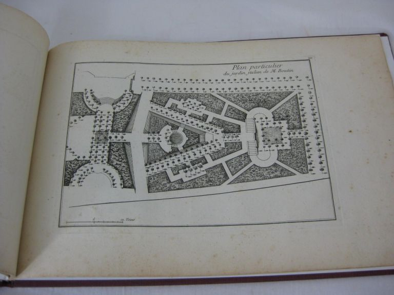 Les Jardins Anglo-Chinois. (Cahiers I - IV) with extra plate. Georges Louis Le Rouge.