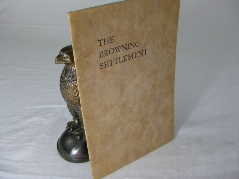 THE BROWNING SETTLEMENT. Herbert Dunnico Browning Institute. Collie Knox, Walter Whitman.