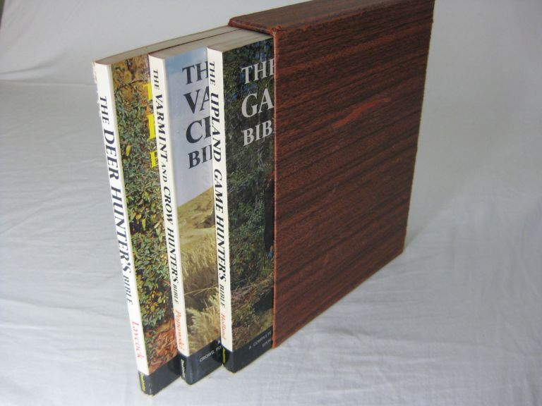 THE VARMINT AND CROW HUNTERS BIBLE, (with)THE UPLAND GAME HUNTER'S BIBLE, (with)THE DEER HUNTER'S BIBLE, (3 Volumes in slipcase). Bert Popowski, Dan Holland, George Laycock.