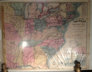 LLOYD'S AMERICAN RAILROAD MAP: Showing the Whole Seat of the
