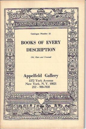 BOOKS OF EVERY DESCRIPTION: Catalogue Number 22. Louis Appelfeld