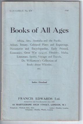 Catalogue Number 674: BOOKS OF ALL AGES: Africa, Arts, Australia and the Pacific, Atlases,...