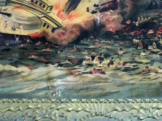 DESTRUCTION OF ADMIRAL CERVERA'S FLEET, AT SANTIAGO DE CUBA, JULY 3rd, 1898.