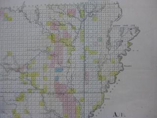 [MAP] ARKANSAS. Map Of The Arkansas Surveying District, Shewing The Extent Of Public Surveys In Said District On The 30th October 1850.