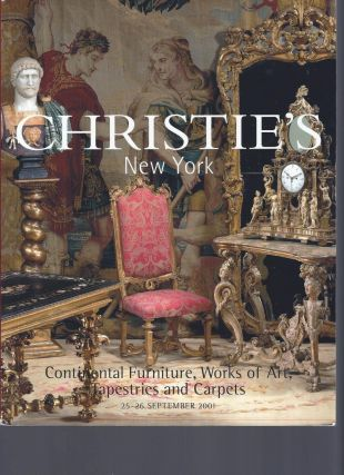 AUCTION CATALOG] CHRISTIE'S: CONTINENTAL FURNITURE, WORKS OF ART, TAPESTRIES AND CARPETS: 25 - 26...