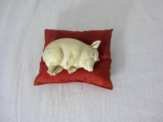 LAZY THE PIG, And His Chinese Adventures (With figurine and silk pillow)