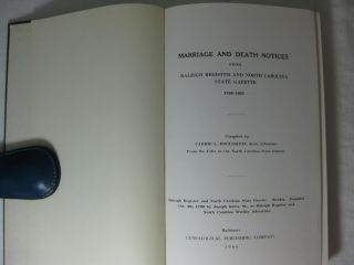 MARRIAGE AND DEATH NOTICES From Raleigh Register and North Carolina State Gazette 1799-1825