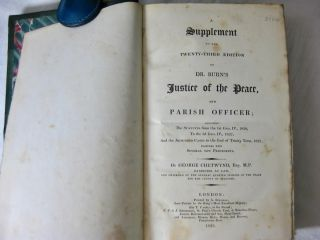THE JUSTICE OF THE PEACE, AND PARISH OFFICER. ( 6 volumes, including the supplement, complete)