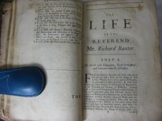 AN ABRIDGMENT OF MR. BAXTER'S HISTORY OF HIS LIFE AND TIMES. With an Account of Many Others of Those Worthy Ministers, who were Ejected, after the Restauration of King Charles the Second.