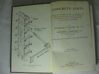 CONCRETE COSTS. Tables and Recommendations for estimating the time and cost of labor operations in concrete construction...