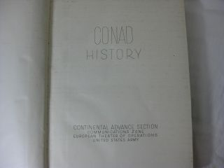 CONAD COMPENDIUM In Two Volumes. (WITH) CONAD HISTORY (3 volumes, complete)
