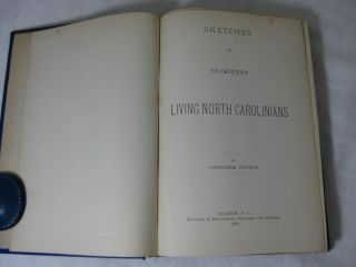 SKETCHES OF PROMINENT LIVING NORTH CAROLINIANS