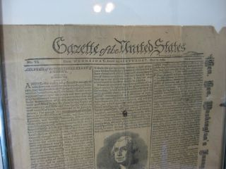 GAZETTE OF THE UNITED STATES: No. IV From Wednesday, April 29, to Saturday, May 2, 1789 (1895 Facsimile)