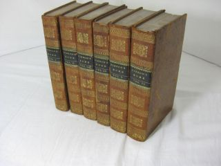 THE HISTORY OF THE DECLINE AND FALL OF THE ROMAN EMPIRE. Complete in 6 volumes. Edward Gibbon