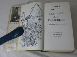 JAMES BEARD. DELIGHTS AND PREJUDICES (Signed)