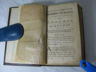 Compendium of the Most Approved Modern Travels. (Volume the Third) (Containing:) THE TRAVELS OF MR. HANWAY, Through Russia, Persia, and several other parts, for settling a trade upon the Caspian Sea.; THE NATURAL HISTORY OF NORWAY, by Erich Pontoppidan;