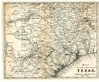 MAP OF PART OF THE STATE OF TEXAS