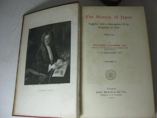 The History of Japan Together with a Description of the Kingdom of Siam, 1690-1692. (Three volume set, complete)