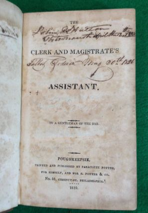 THE CLERK AND MAGISTRATE'S ASSISTANT