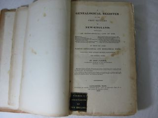A GENEALOGICAL REGISTER OF THE FIRST SETTLERS OF NEW-ENGLAND;