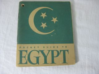 A POCKET GUIDE TO EGYPT. Services of Supply Special Service Division, United States Army