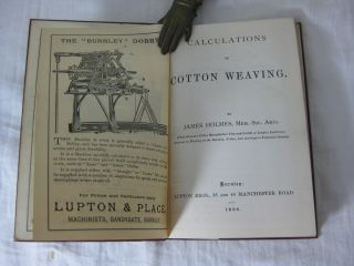 CALCULATIONS IN COTTON WEAVING.
