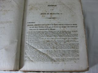 JOURNAL OF THE HOUSE OF DELEGATES OF THE COMMONWEALTH OF VIRGINIA, Begun and held at the Capitol, in the City of Richmond,