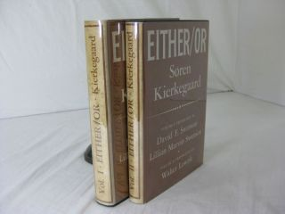 EITHER / OR: A Fragment of Life. Soren Kierkegaard, Lillian Marvin Swenson David F. Swenson,...