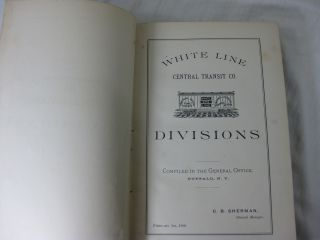 WHITE LINE CENTRAL TRANSIT CO. Divisions