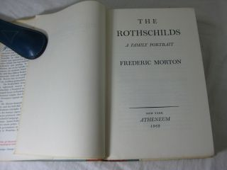 THE ROTHSCHILDS: A Family Portrait. (Signed by Nica Rothschilds)