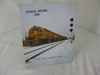 THE ANNUAL REPORT OF THE MAINE CENTRAL RAILROAD COMPANY FOR THE YEAR 1966