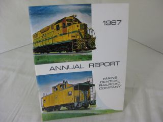 THE ANNUAL REPORT OF THE MAINE CENTRAL RAILROAD COMPANY FOR THE YEAR 1967