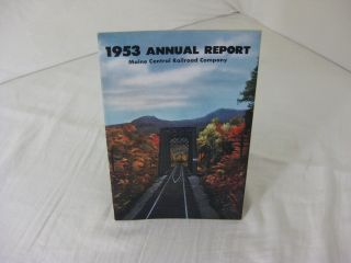 1953 ANNUAL REPORT MAINE CENTRAL RAILROAD COMPANY