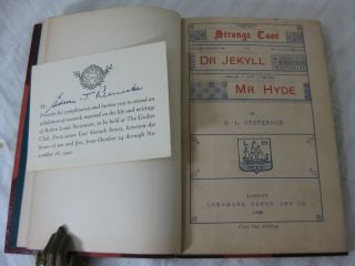 STRANGE CASE OF DR JEKYLL AND MR HYDE (Fine binding, with original wraps bound in)