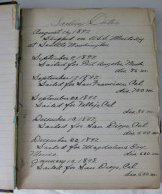 SPANISH AMERICAN WAR DIARY & MEDAL FROM SAILOR ONBOARD THE U.S.S. OLYMPIA