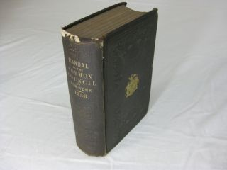 MANUAL OF THE CORPORATION OF THE CITY OF NEW YORK FOR 1858. D. T. Valentine