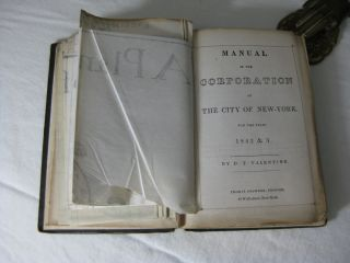 MANUAL OF THE CORPORATION OF THE CITY OF NEW YORK FOR THE YEARS 1842 & 3.