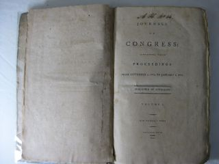 JOURNALS OF CONGRESS: CONTAINING THEIR PROCEEDINGS FROM SEPTEMBER 5, 1774, TO JANUARY 1, 1776