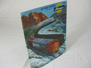 ATHEARN Trains in Miniature. HO SCALE CATALOG 1962-63. Catalog