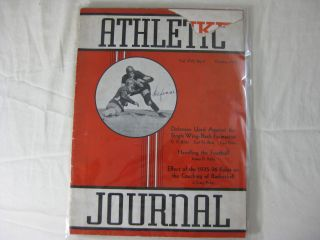 ATHLETIC JOURNAL: October, 1935, Vol. XVI, No. 2. John L. Griffith