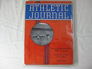 ATHLETIC JOURNAL Vol. XXII, No. 1 September, 1941