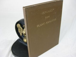 APGAR'S NEW PLANT ANALYSIS Adapted to All Botanies. E. A. Apgar, A C. Apgar