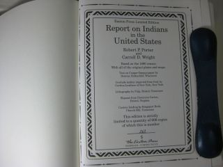 REPORT ON INDIANS TAXED AND INDIANS NOT TAXED IN THE UNITED STATES (Except Alaska)